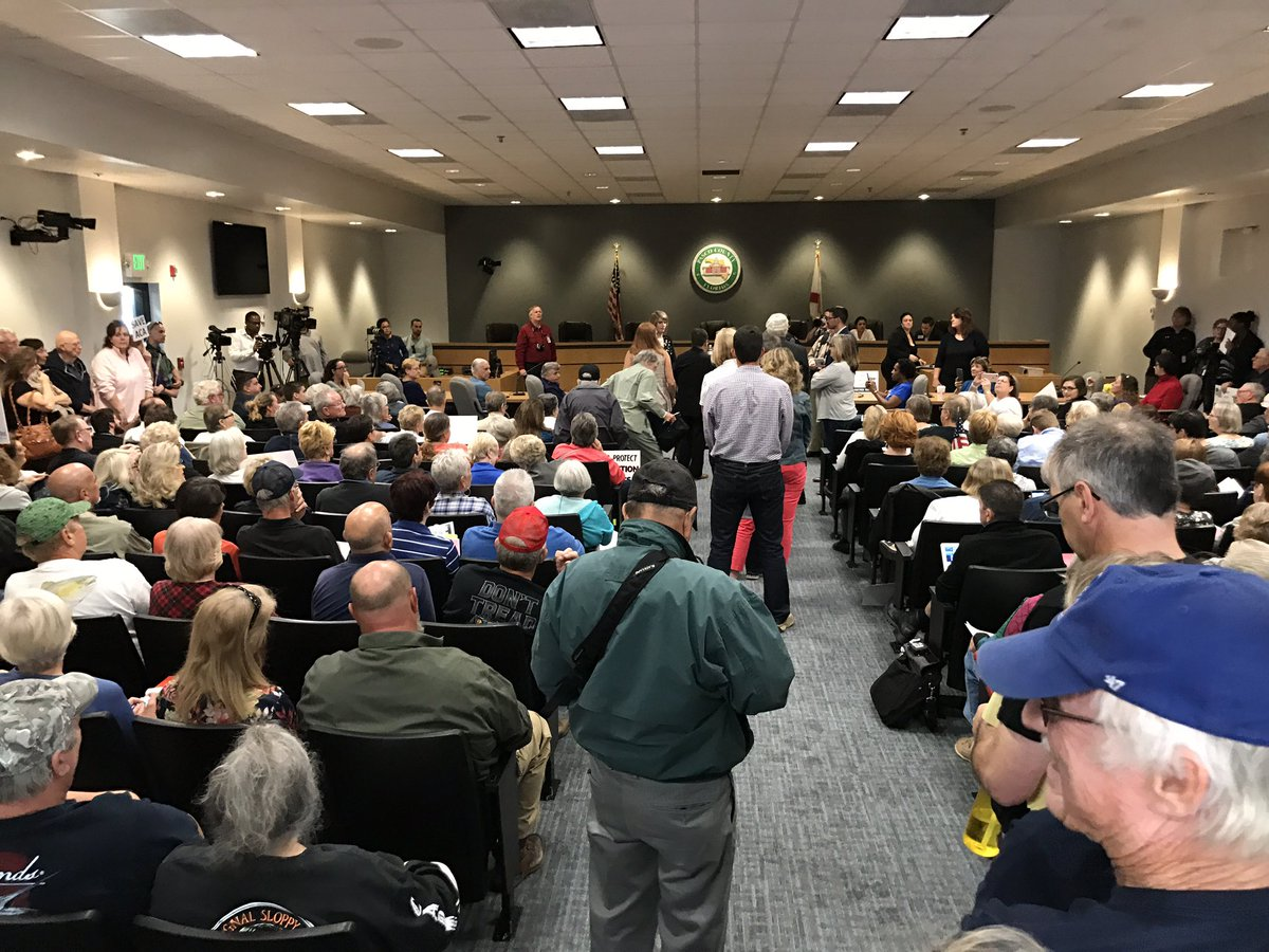 Rep. Gus #Bilirakis, R-Florida, is starting a totally packed town hall in New Port Richey. Dozens of people are waiting outside.