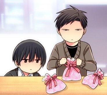 昨日野崎ん家に寄ったらバレンタイン用のチョコレートの梱包作業をしてたんだよ。  中身のチョコは手作り…