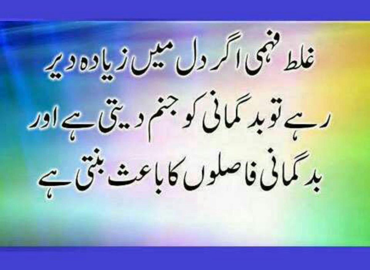 urdu islamic msgs 📚 on ghalat fehmi agar dil me zyada
