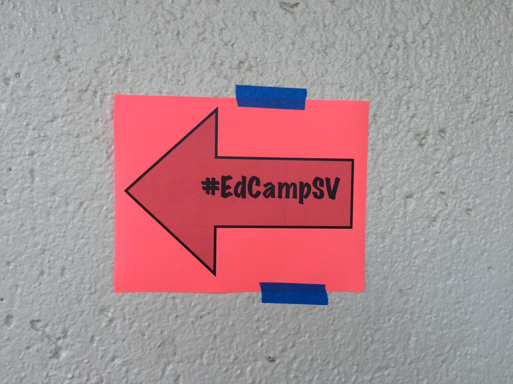 Joining us at #EdCampSV TODAY there's another event on campus. Follow the bright orange signs! To the MAC @EdCampSV https://t.co/u22DaI1z01
