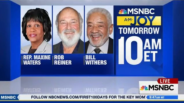 Great guests coming up on tomorrow's #AMJoy! Don't miss it #reiders. 1...