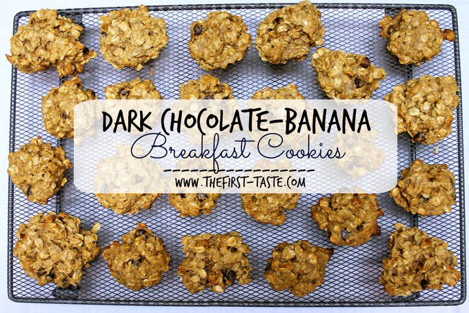 Dark Chocolate-Banana Breakfast Cookies