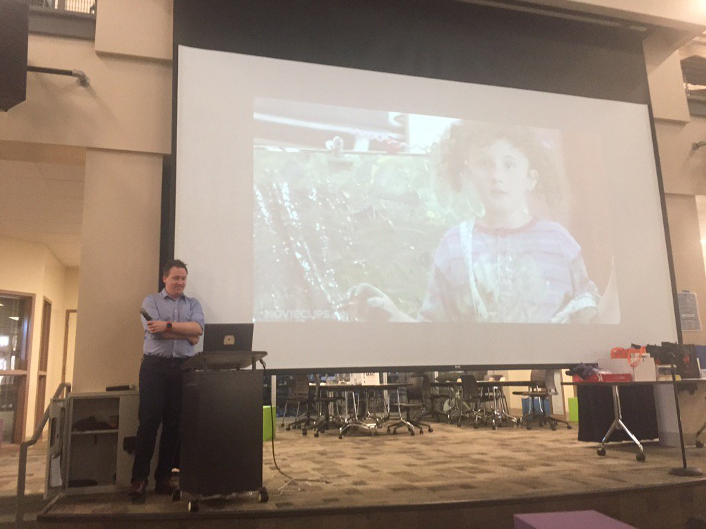 Awesome kickoff by @jamestsanders #EdCampSV ... What should teaching look like? https://t.co/uNdArU6pZB