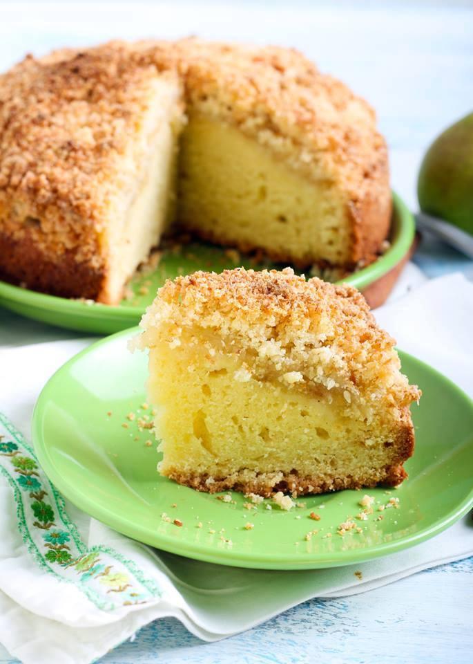 """cuisine et mets on twitter: """"gâteau aux poires façon crumble https"""
