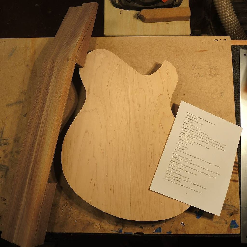 Newest custom build taking shape #woodworking #luthiery #woodwork #luthier  http:// ift.tt/2lxdaaC  &nbsp;  <br>http://pic.twitter.com/erMBw5LzF5