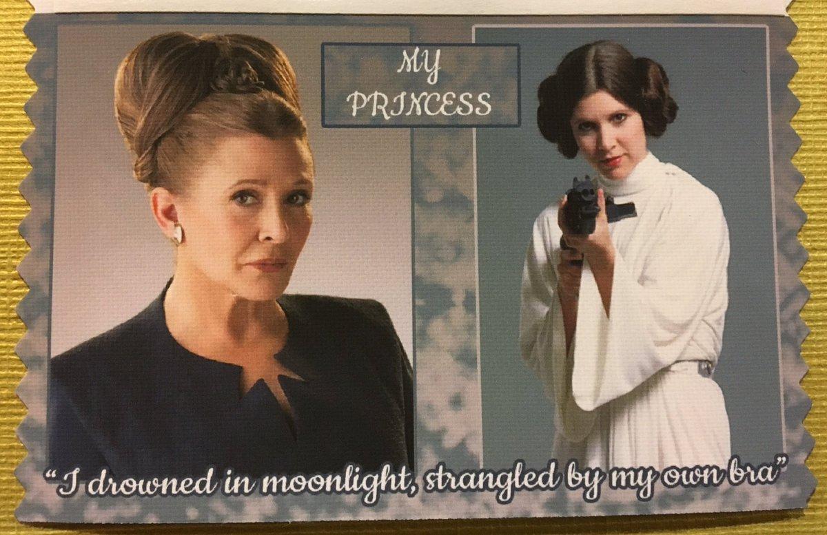 YOU GUYS. I GOT THE BEST RIBBON EVER! #gally1 #starwars #princessleia #carriefisher #myprincess<br>http://pic.twitter.com/61G1wnIFxn