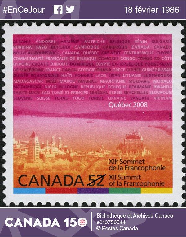 #EnCeJour 1986: Participation du #Canada au 1er #SommetDeLaFrancophonie à #Versailles #France #Canada150   http:// ow.ly/KHX9308Ad7Y  &nbsp;  <br>http://pic.twitter.com/n5iDGkqWU1