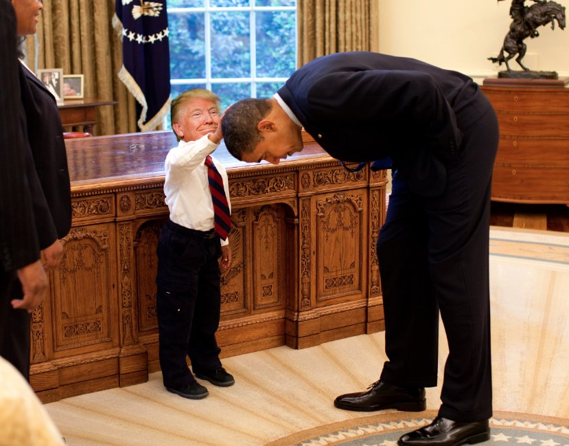 @realDonaldTrump #TinyTrumps #tinyTrump #tinypresident #obama #Trump Farewell to @BarackObama<br>http://pic.twitter.com/7L8vRROCCL