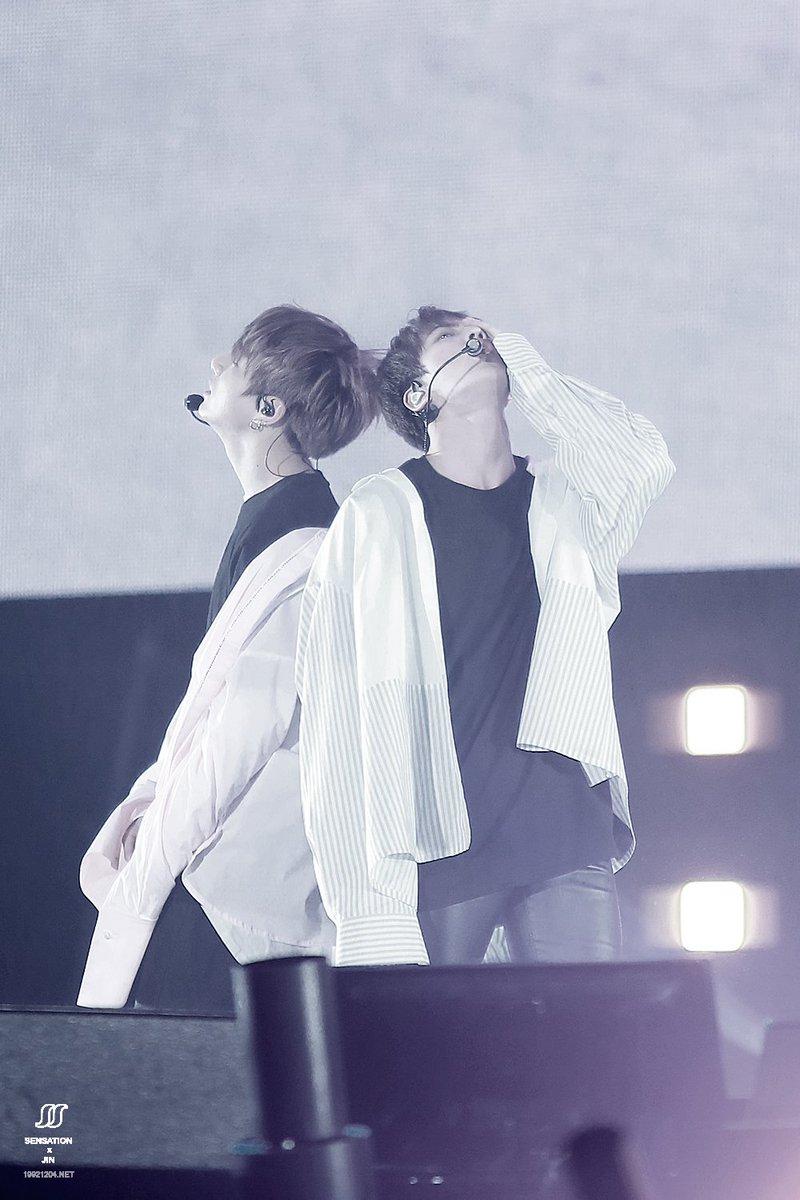 [170218] [HQ] #BTS #방탄소년단 #Jin #진 #Jungkook #정국 #WingsTourInSeoul  cr: SENSATION<br>http://pic.twitter.com/a20q5wWsz3