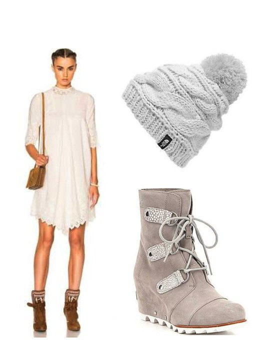 Eyelet Dress in Snow #ootd #fashionpost #style #lookbook