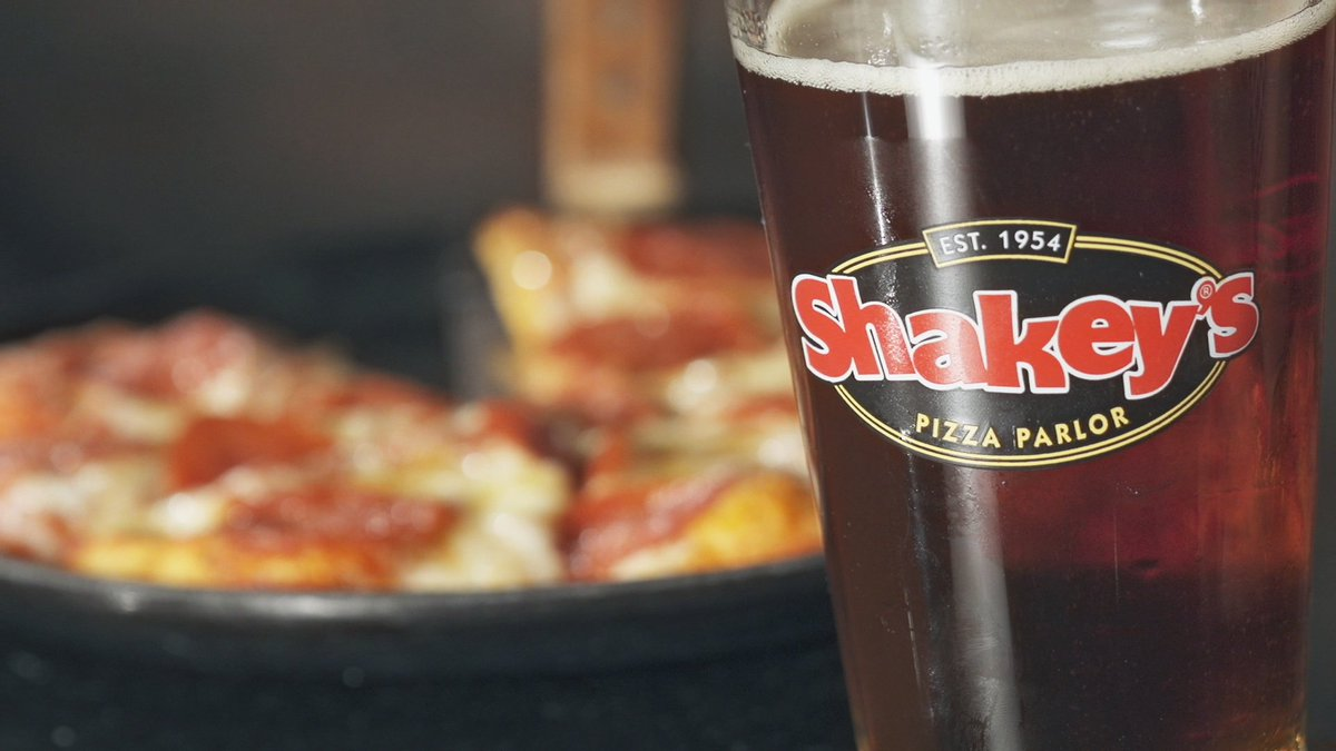 Image result for shakeys glass of root beer and pizza