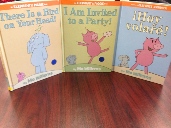 Happy Birthday Mo Willems! We have quite a few titles in our collection right now! A few titles are in Spanish!