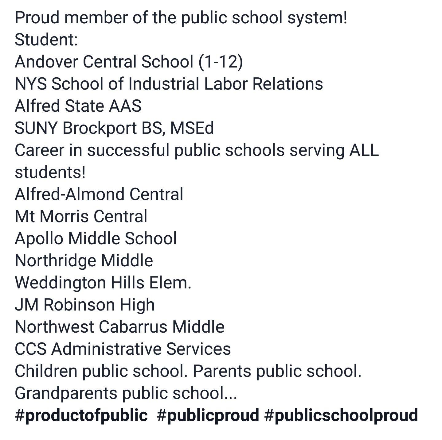 Proud of our public schools! #PublicschoolProud #publicproud #productofpublic https://t.co/aGp6EtFTaR