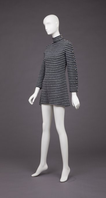 Happy birthday Mary Quant! We are sharing her black and silver knit mini dress from our collection!