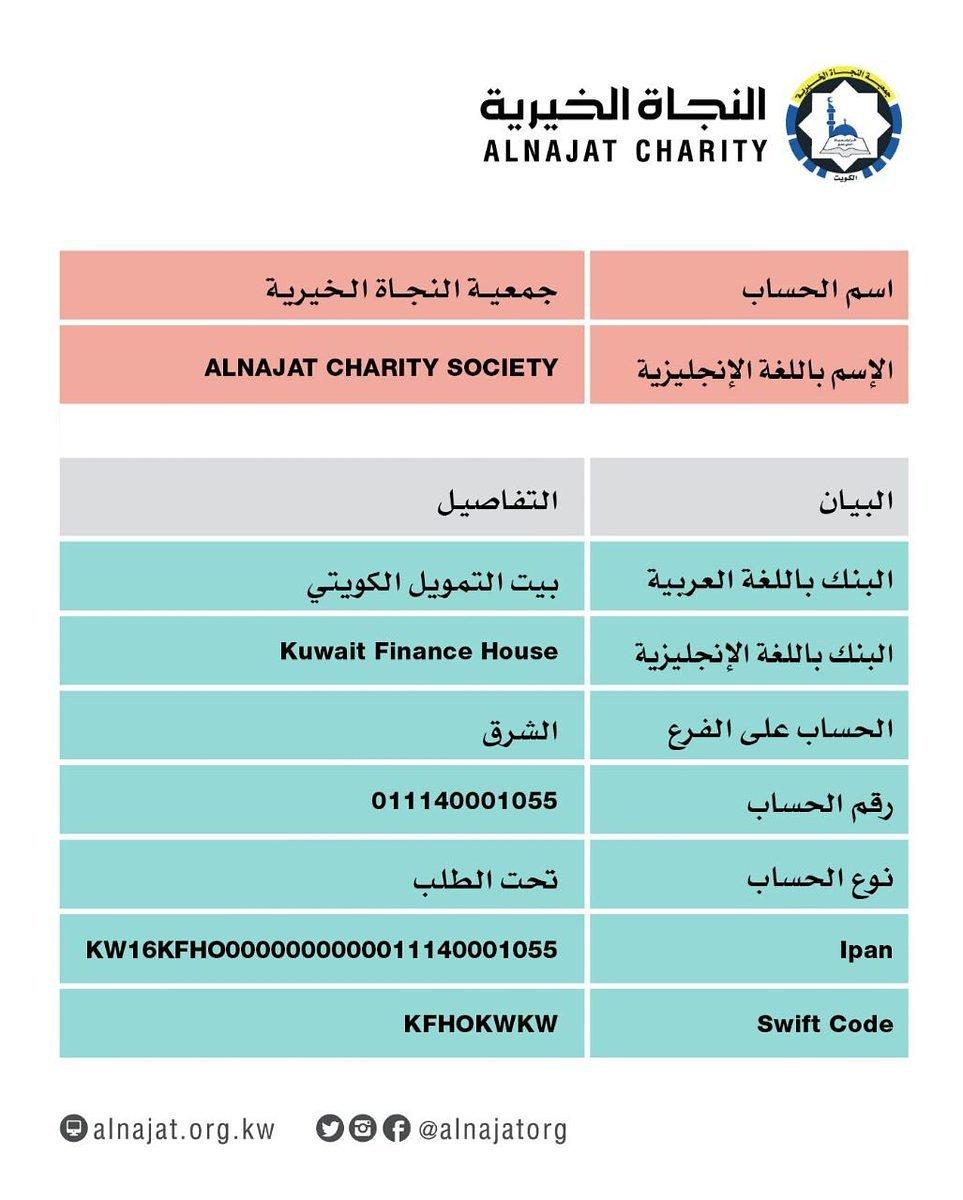 الراحمون Twitterissa رقم الحساب البنكي 011140001055 بيت