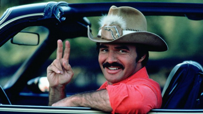 """I take my hat off for one thing, one thing only.\"" Happy 81st birthday to the ultimate bandit, Burt Reynolds."