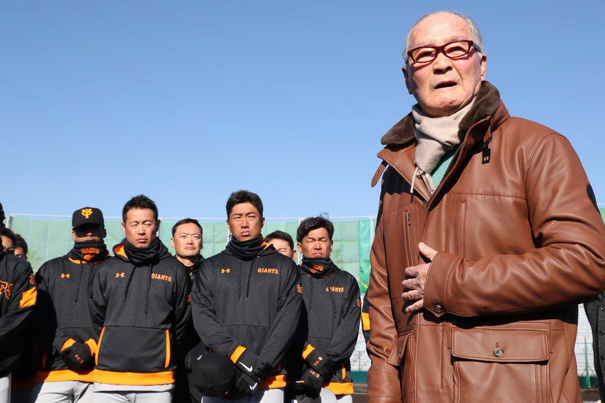 【二軍】朝のミーティングの最後に #長嶋茂雄 終身名誉監督が選手を激励しました。「寝る時に、自分の生…