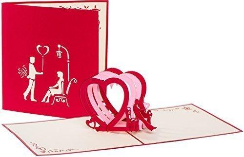 Großartig Http://sulzbach.city/kaufhaus/buerobedarf/papierprodukte/valentinskarte Karte Zum Valentinstag Hochzeitskarte Paerchen Auf Bank 3 Herzen 3d Pop Up Hand/  U2026