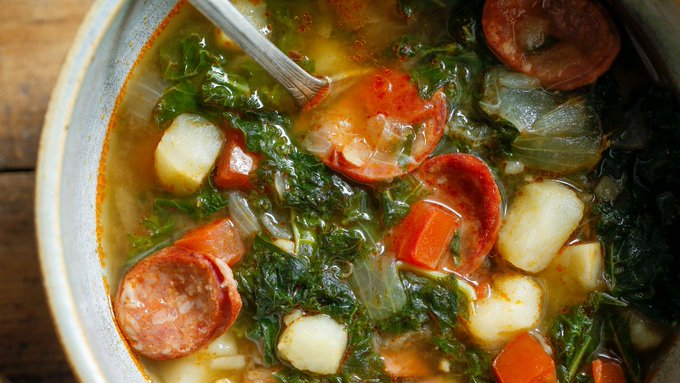 Kale Soup With Potatoes and Sausage Recipe
