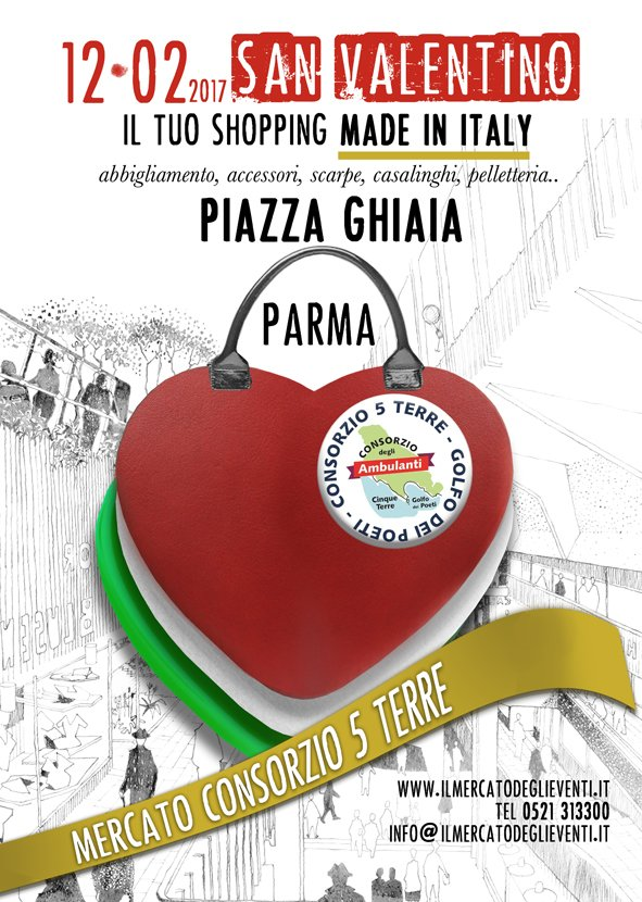 2c582e37f5 Il vostro #shopping per #SanValentino oggi in Piazza Ghiaia a #Parma, dalle  9 alle 19, con il mercato del Consorzio 5 Terrepic.twitter.com/3WaIwvaLYS