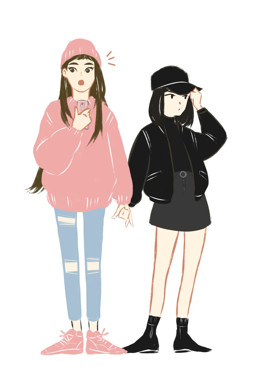 One day Ima stop doodling cozy lesbians but that day is not today Yoonjin
