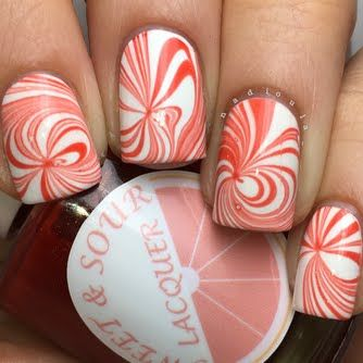 Peppermint Swirl Watermarble by Nadia