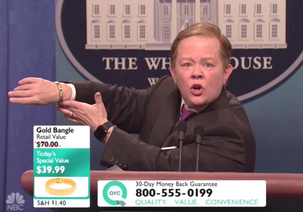 This #SNL joke might be the single greatest satiric take down of the administration to date. #SNLSpicer https://t.co/7NL5HQRS12
