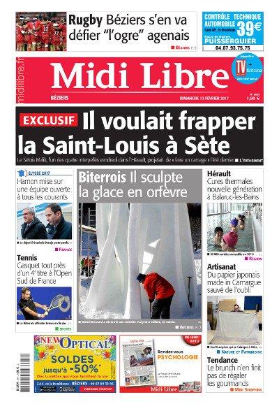 #MidiLibre Bonjour #Béziers ! Voici la Une de @MLBeziers de ce dimanche 12 février @ASBHOfficiel #attentatdejoue #Sete #Gasquet #Hamon2017<br>http://pic.twitter.com/FgAkTjBiLq