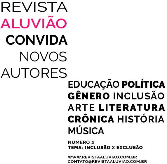 Resultado de imagem para Revista Aluvião.