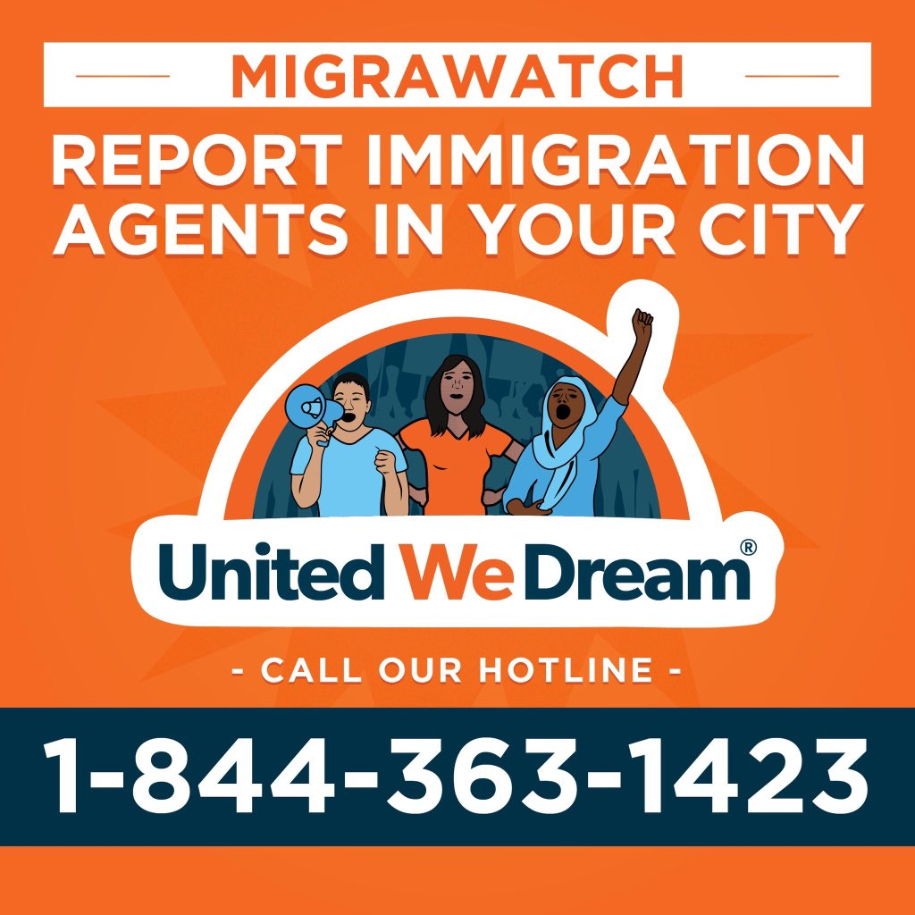 Use this phone number to report raids near your area! #HereToStay https://t.co/KWfOVpeKvC