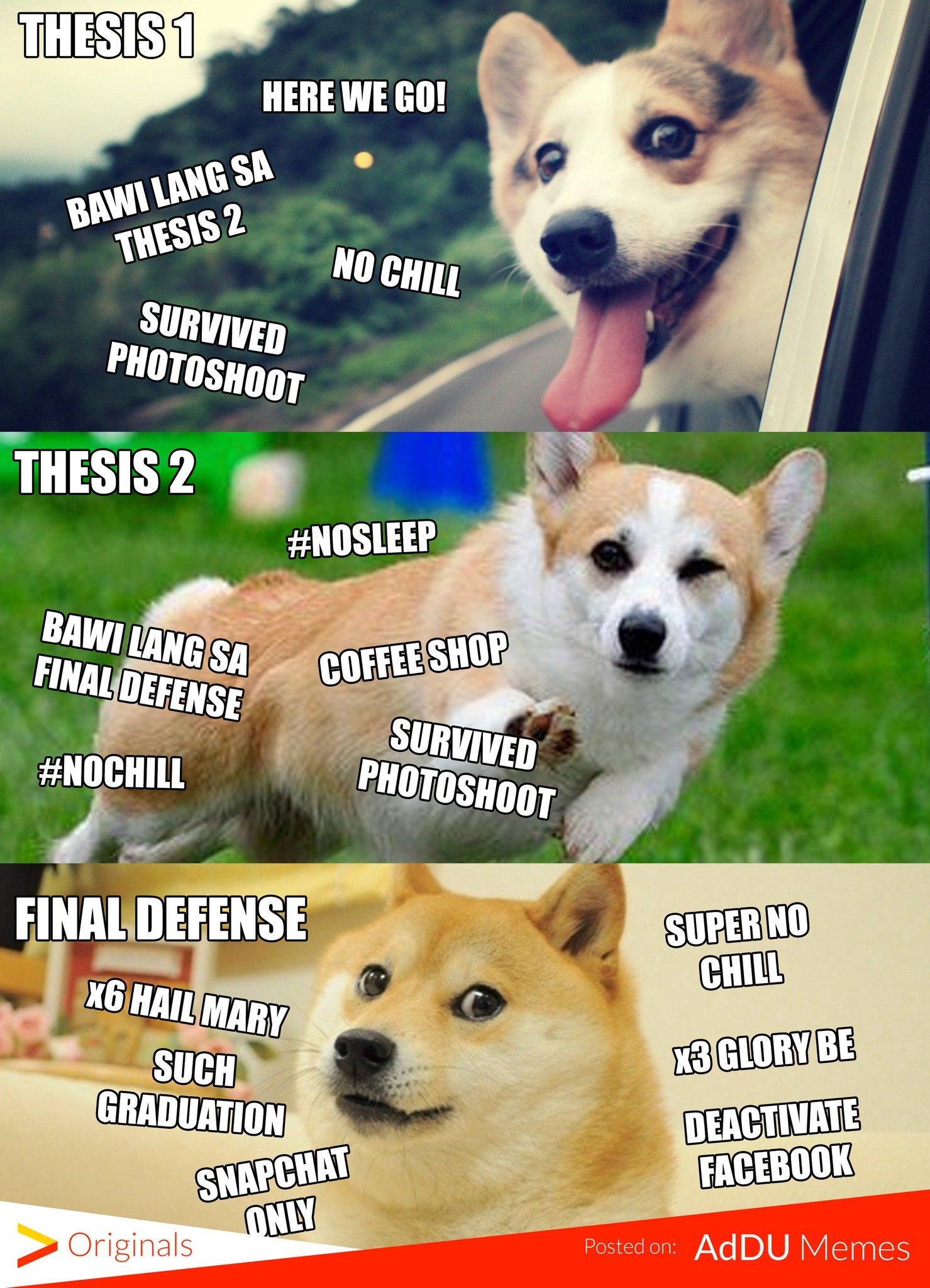 "AdDU Memes On Twitter: ""ESTUDYANTE FEELS LEVEL: THESIS… """