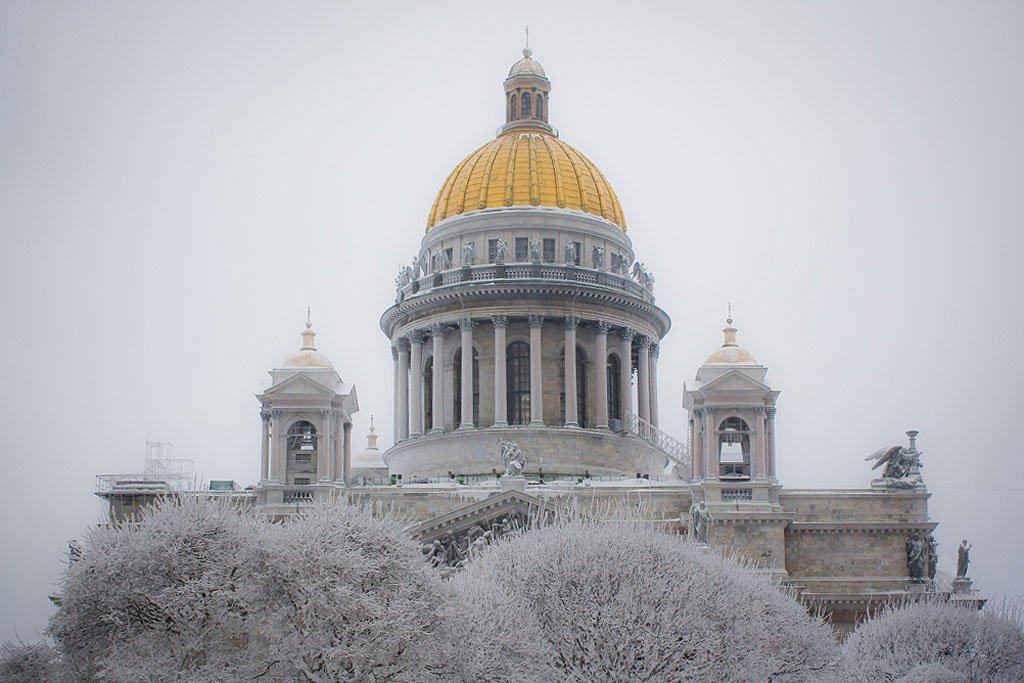 Надписью конец, картинки исаакиевский собор зимой