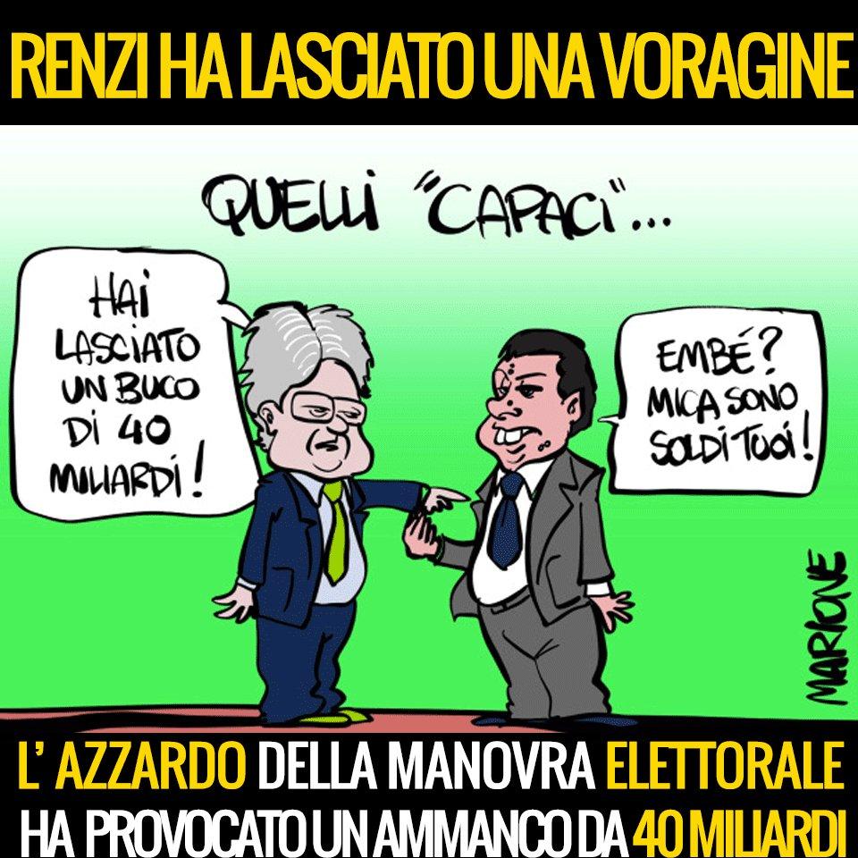 Ecco a voi l'eredità del governo #Renzi. #BuonaDomenica https://t.co/Y...