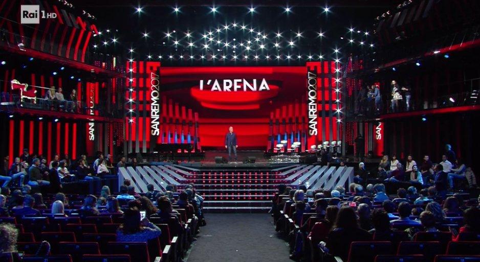 FESTIVAL DI SANREMO 2017 LIVE SPECIALE DE L'ARENA