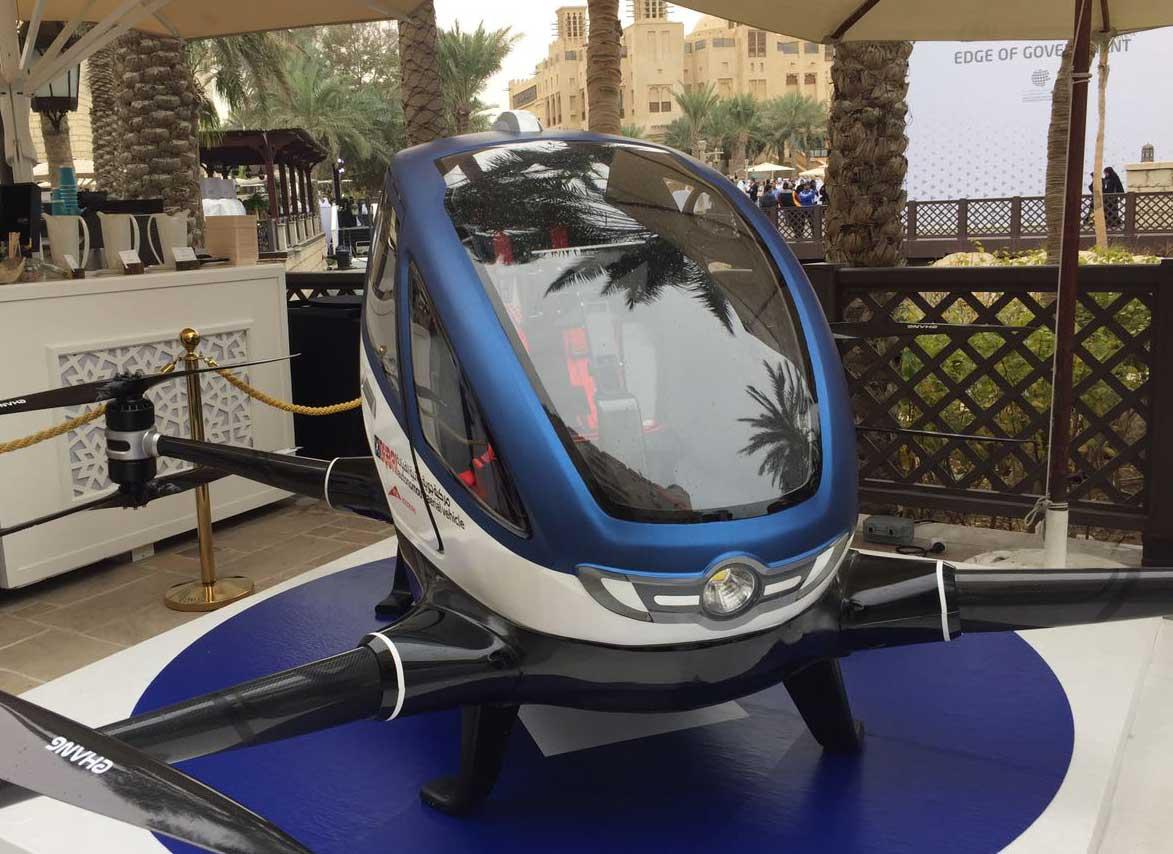 В Дубае представили первый в ОАЭ беспилотный «летающий автомобиль»