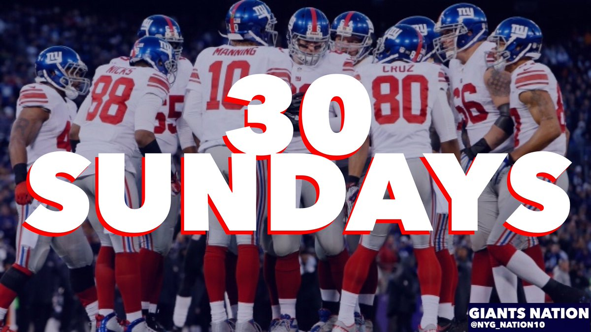 And the wait begins...  30 Sundays until Giant football is back. #GiantsPride #GiantsNation<br>http://pic.twitter.com/Zi7OcP7Hga