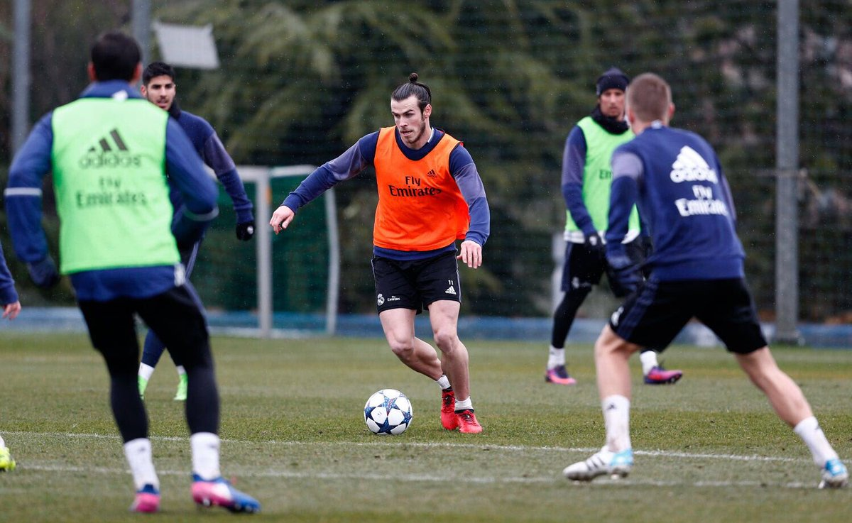 gareth bale on twitter first day back on the training pitch with