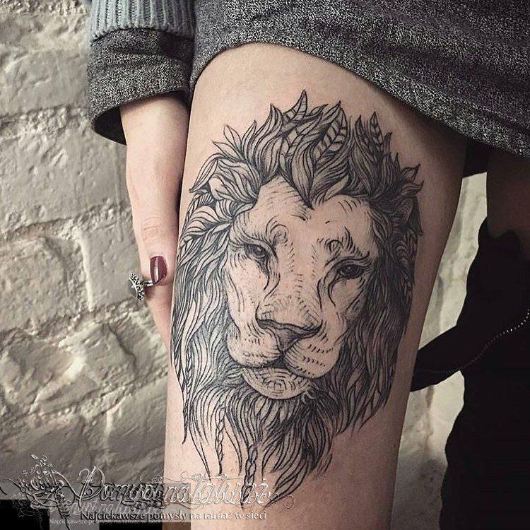 Pomysł Na Tatuaż Sur Twitter Lew Na Udo Httpstco
