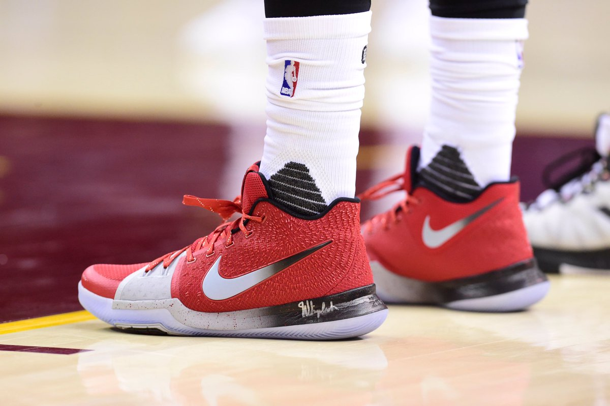 new product f04c6 fbe12 A closer look at the nike kyrie 3 pe that  kyrieirving had on vs. denver