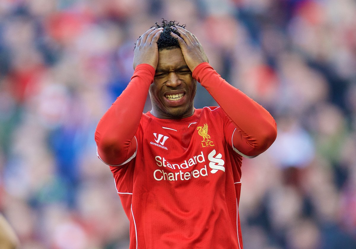 Image result for daniel sturridge sad