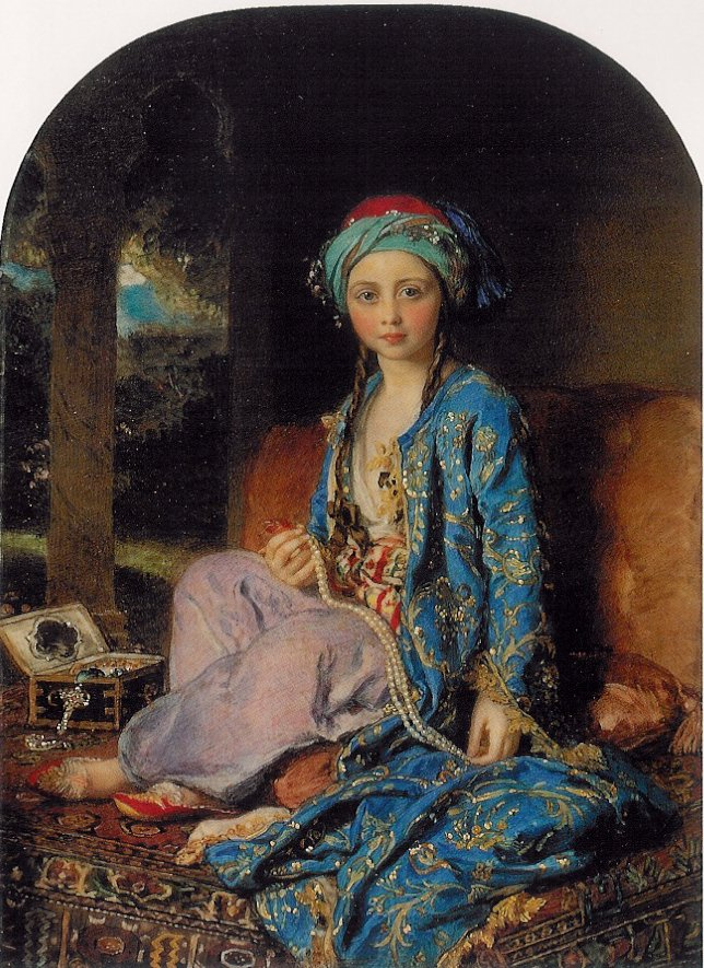 """Victoria, Princess Royal, in a Turkish Inspired Costume"" by Sir William Charles Ross, 1852 https://t.co/ikh7dqVhZr https://t.co/yPZWtZyaD0"