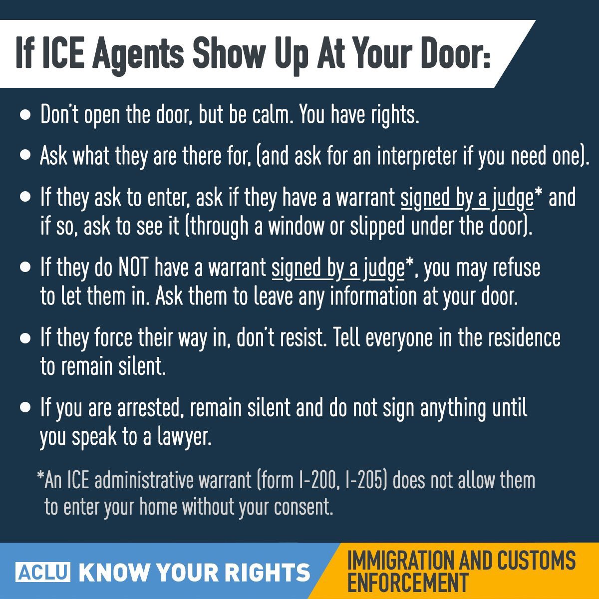 Multiple reports of ICE Agents near the 7 train in Queens. Thanks to the @ACLU for spreading this information. https://t.co/dplmoPHGud