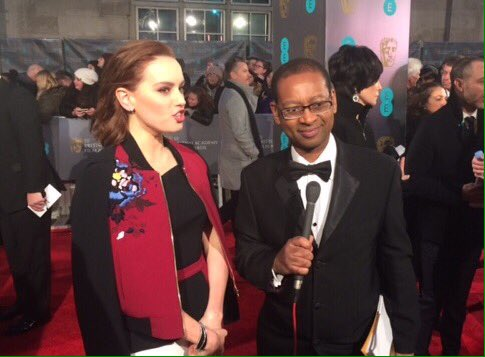 Some great guests on the @BAFTA red carpet including #DaisyRidley #Hug...