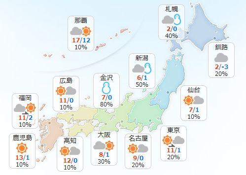 【2月13日(月)】山陰から東北の日本海側では雪が降りやすく、降り方が強まる所もあるでしょう。車の運…