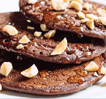 Chocolate Hazelnut Pancakes