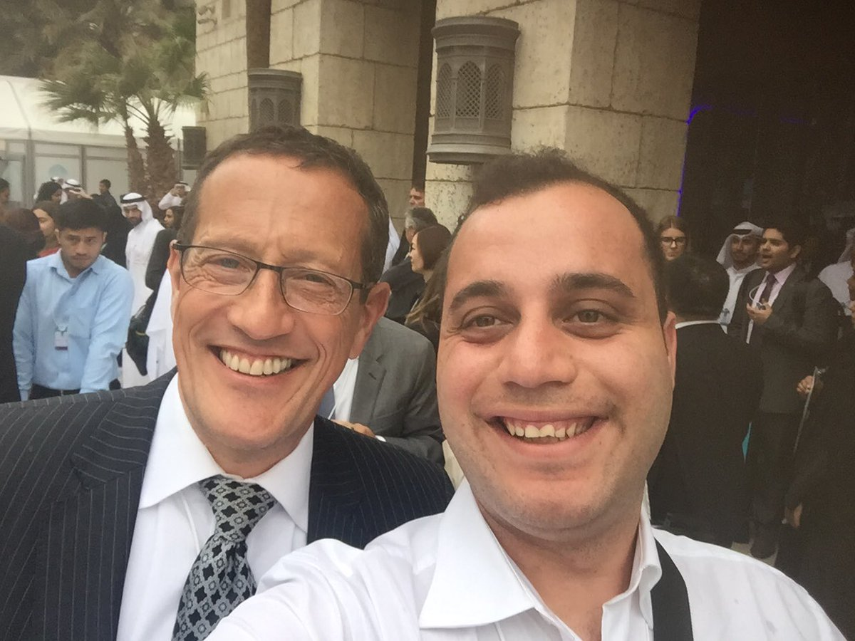 Meeting @richardquest @WorldGovSummit was EPIC! It was great talking to him and listening to his insight about the MENA ❤@CNNMoney @ILearnJo