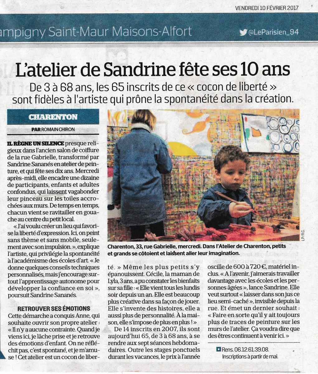 #presse #LeParisien_94 Les 10 ans de l'#AtelierdeCharentonpic.twitter.com/3IToosR6wc
