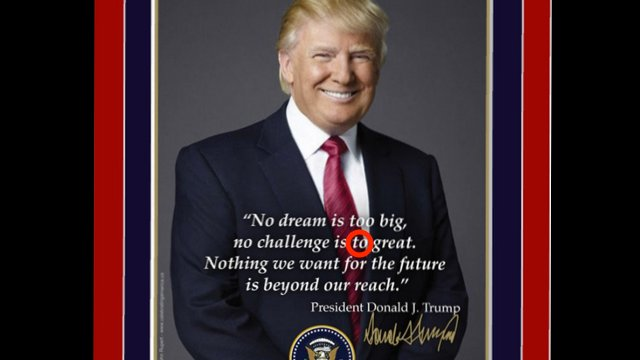 Trump's official inauguration poster has glaring typo: https://t.co/KEckH7NFQL