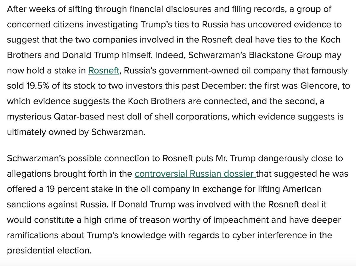 Is Trump Advisor Steve Schwarzman The Missing Link In The Rosneft Scandal? https://t.co/jaSetr08uY https://t.co/VUvNbYpuDc