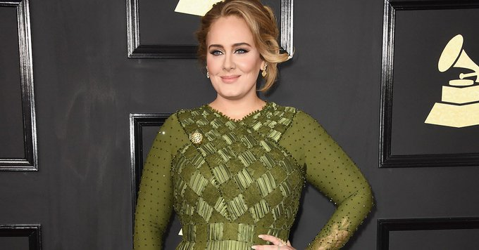 Adele Wore the GREEN Prom Dress of Our Wildest Dreams